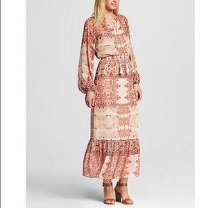 Mossimo Aztec Print long sleeve dress size M
